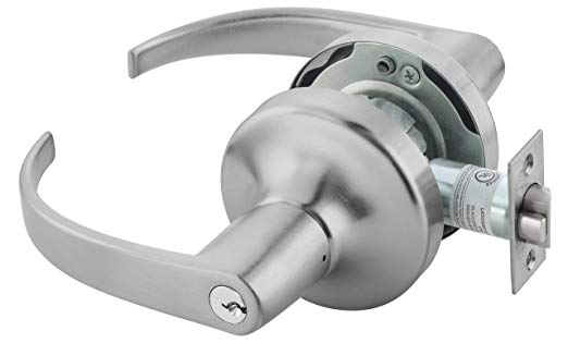 An image of Yale PB4705LN LKSET X 694 626 Storeroom Satin Chrome Lever Lockset Lock