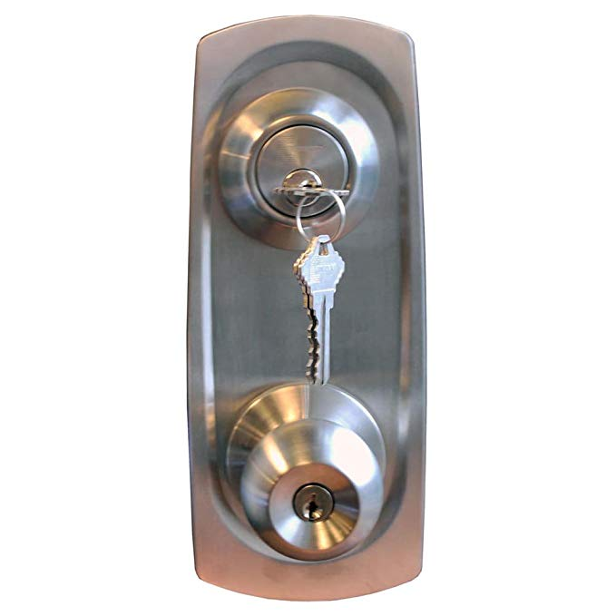 An image related to Constructor CON3973 Entry Stainless Steel Lever Lockset Lock