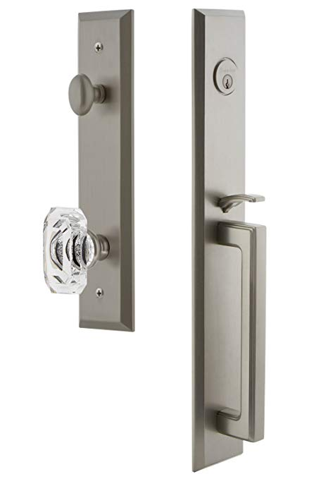 An image related to Grandeur 845664 Satin Nickel Lever Lockset Door Lock