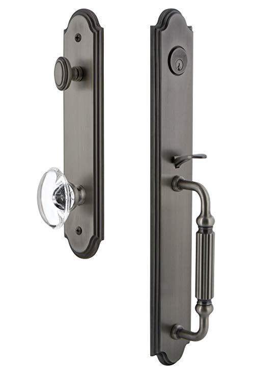 An image related to Grandeur 844259 Brass Pewter Lever Lockset Lock