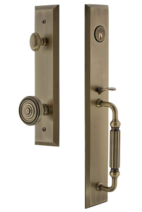 An image related to Grandeur 846533 Brass Lever Lockset Lock