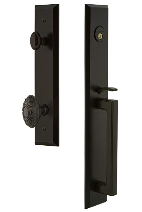 An image related to Grandeur 846277 Brass Bronze Lever Lockset Lock