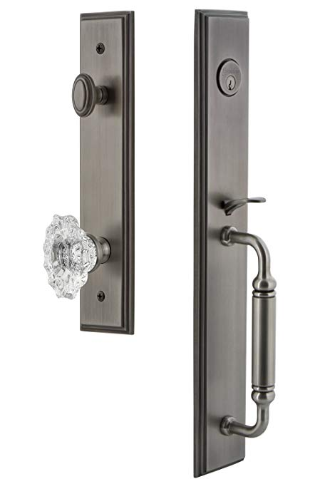 An image related to Grandeur 842181 Brass Pewter Lever Lockset Lock