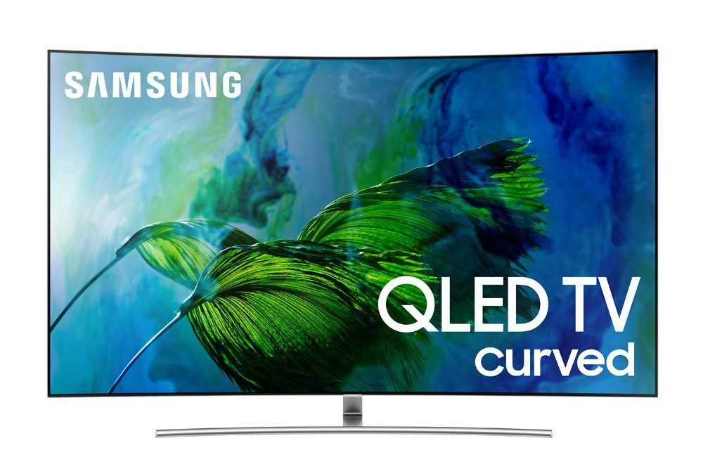 An image of Samsung QN55Q8CAMFXZA 55-Inch HDR Curved 4K QLED 240Hz TV with Samsung Motion Rate 240