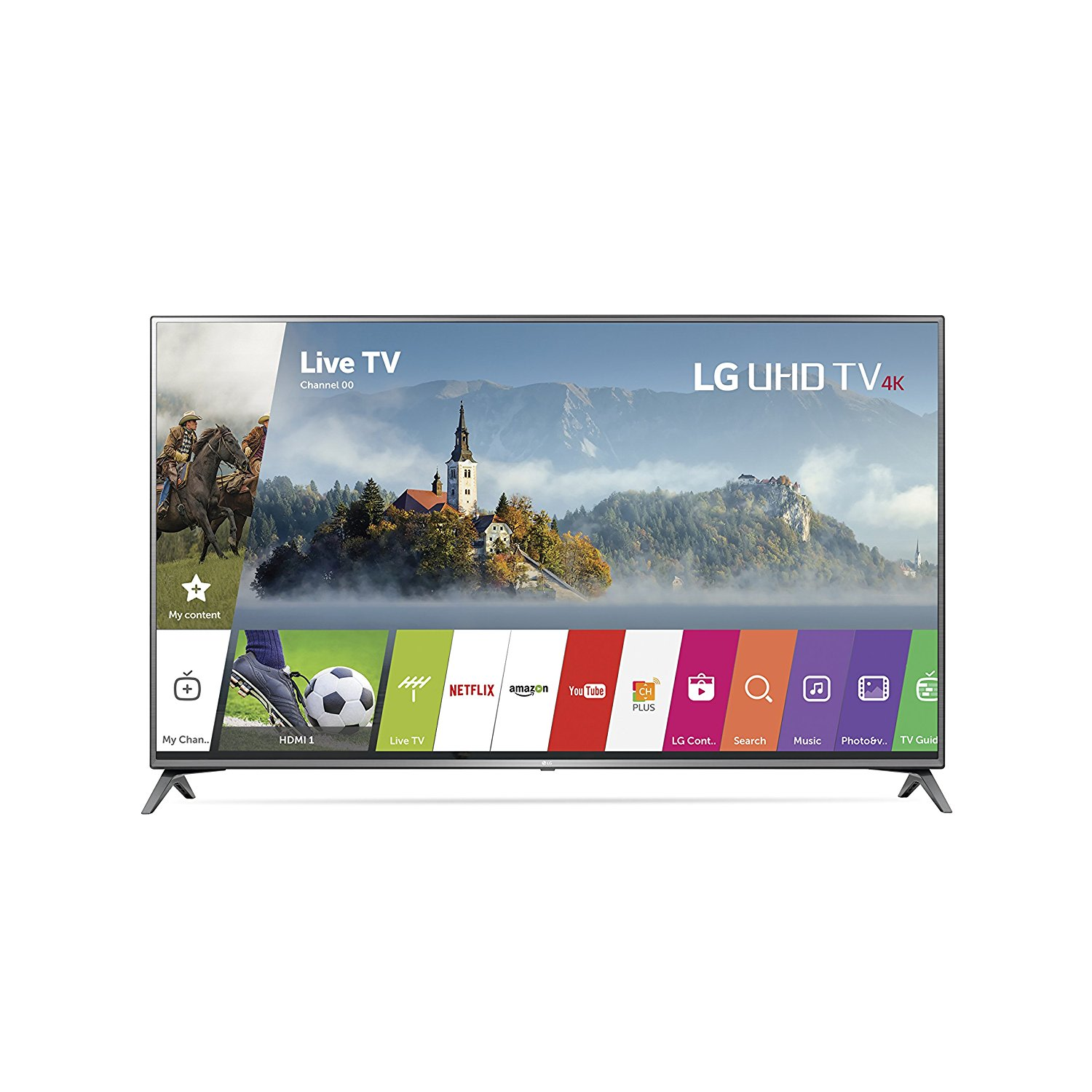 An image of LG 75UJ6470 75-Inch HDR Flat Screen 4K LED 60Hz Smart TV with LG TruMotion 120