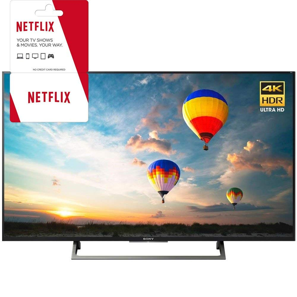 An image of Sony XBR-43X800E 43-Inch HDR Flat Screen 4K LED 60Hz TV with Sony Motionflow XR
