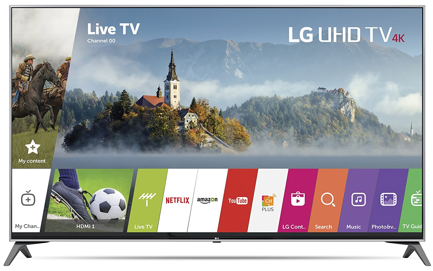 An image of LG 60UJ7700 60-Inch HDR Flat Screen 4K LED 60Hz Smart TV with LG TruMotion 120