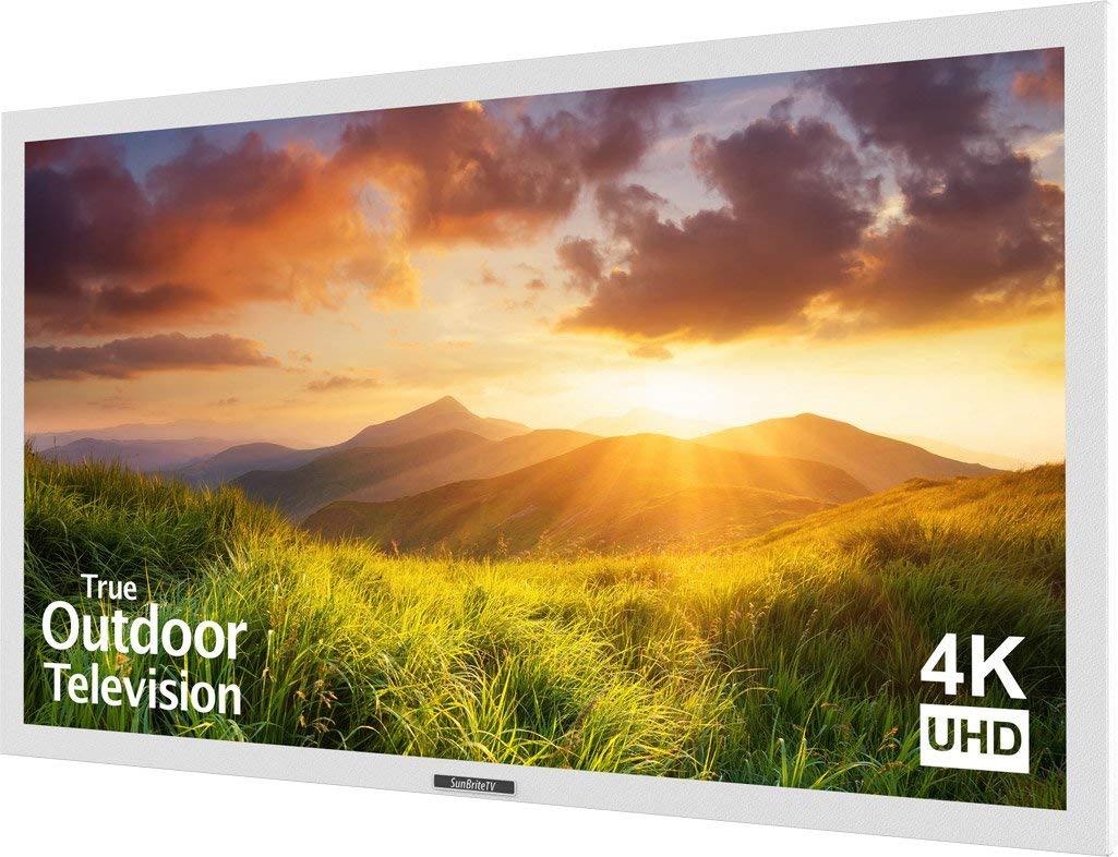 An image of SunBriteTV SB-S-55-4K-WH 55-Inch 4K LED Outdoor 60Hz TV | Your TV Set