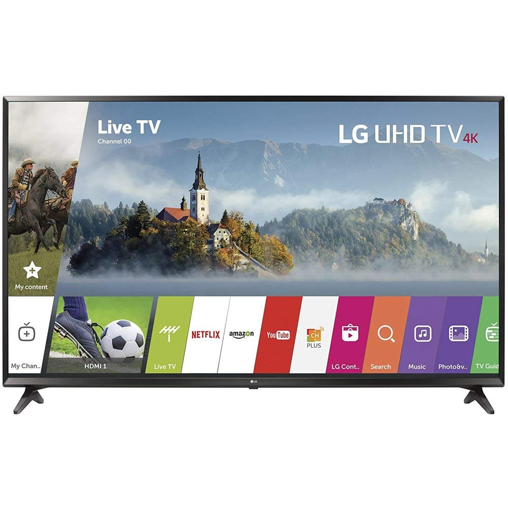 An image of LG 49UJ6300 49-Inch HDR Flat Screen 4K LED 60Hz Smart TV with LG TruMotion 120