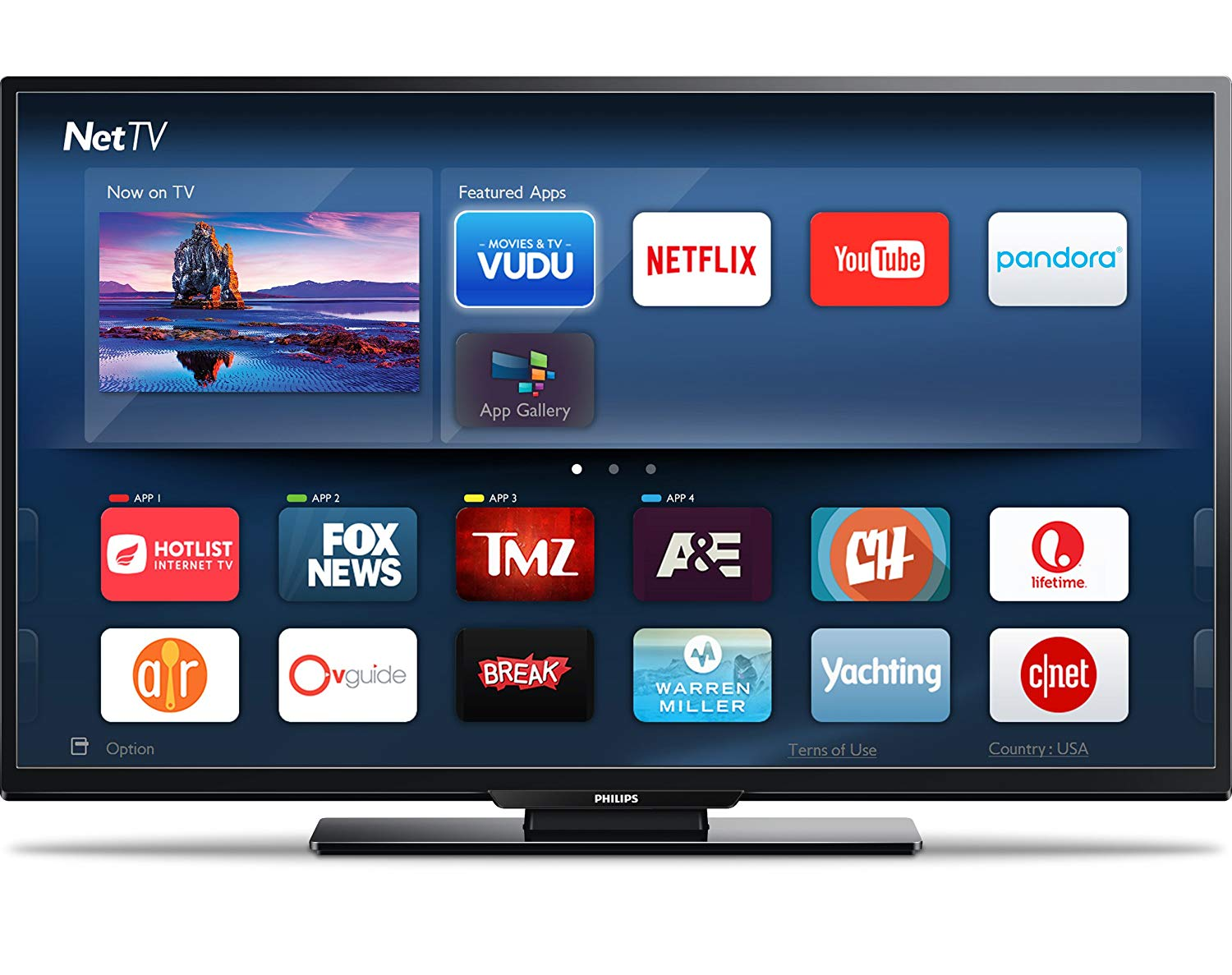 An image of Philips 55PFL5402 55-Inch HDR 4K LED TV with Motion Rate 120