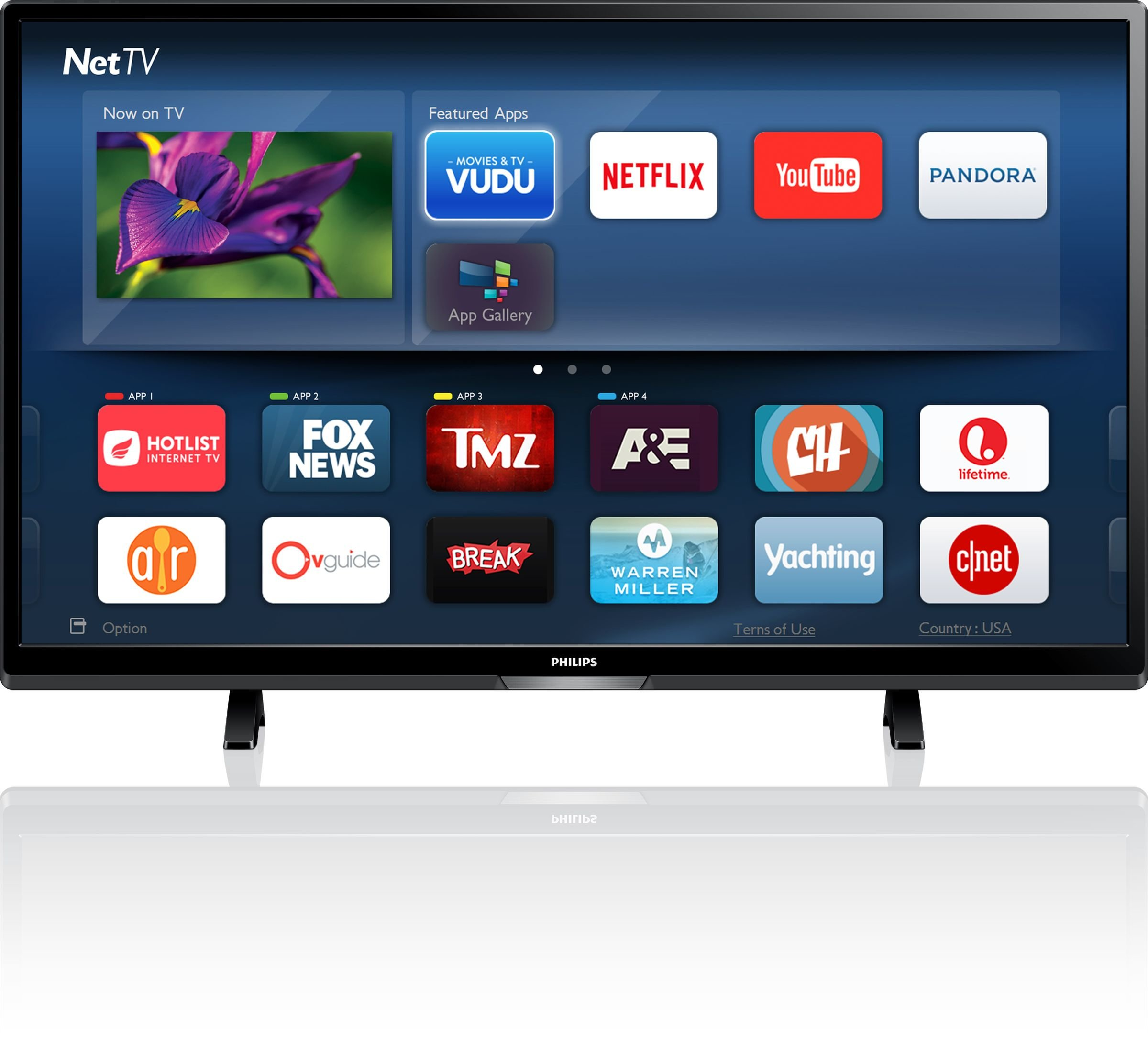 An image of Philips 5000 Series 50PFL5602/F7 50-Inch HDR 3D 4K LED TV with Motion Rate 120