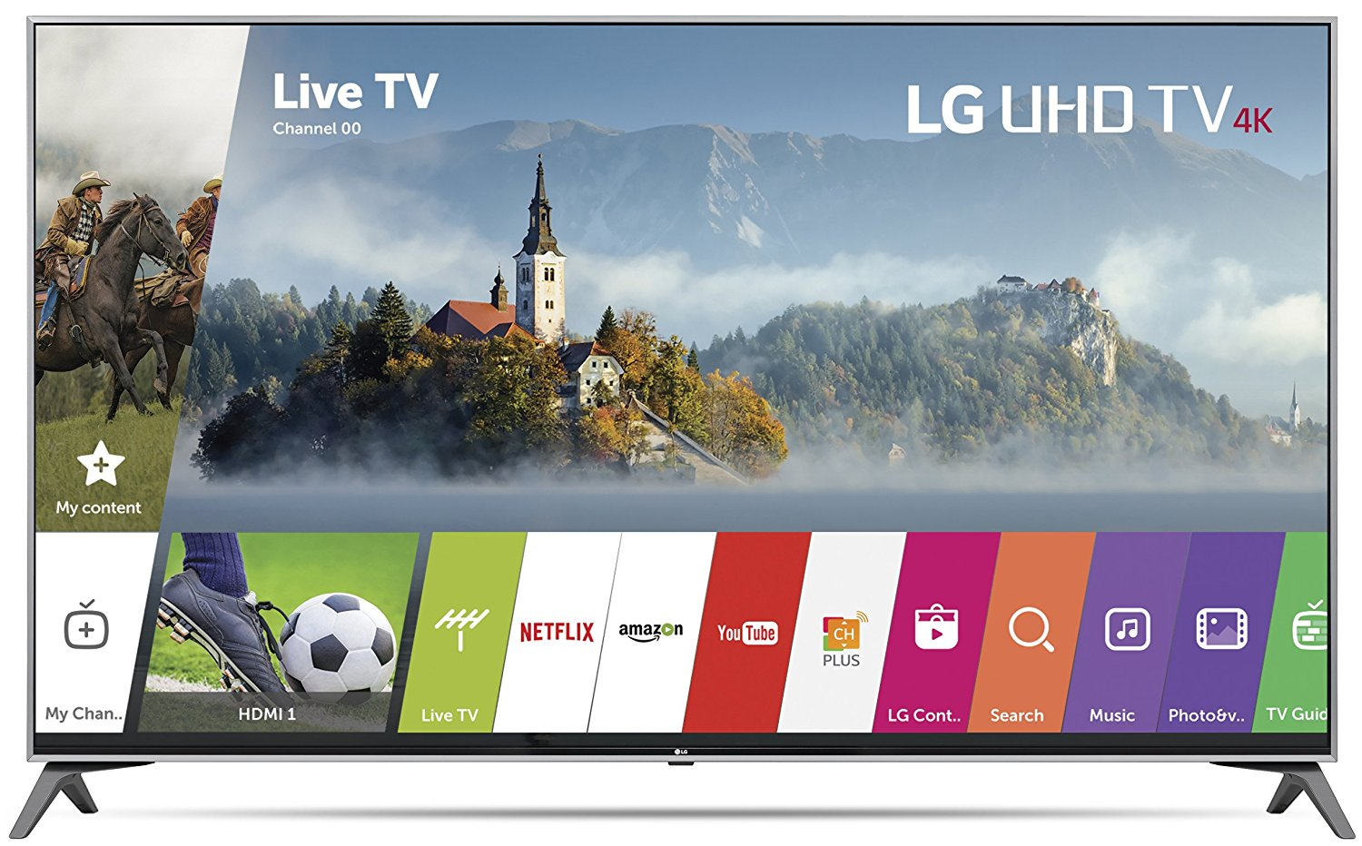 An image of LG 55UJ7700 55-Inch HDR 4K LED 120Hz Smart TV with LG TruMotion 120