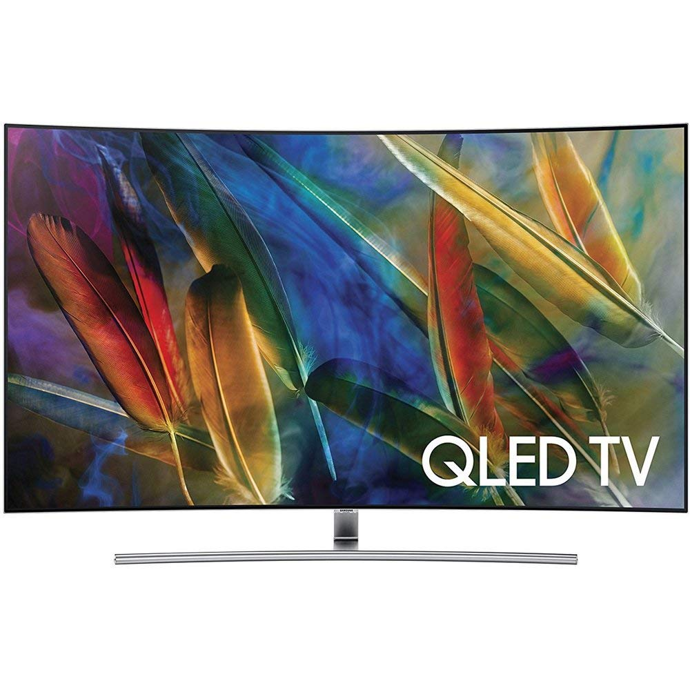 An image of Samsung QN55Q7CAMFXZA 55-Inch HDR Curved 4K QLED 240Hz Smart TV with Samsung Motion Rate 240