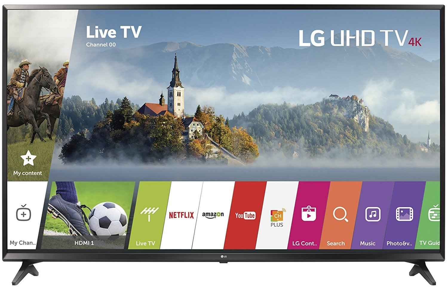 An image of LG 65UJ6200 65-Inch HDR 4K LED TV with LG TruMotion 120