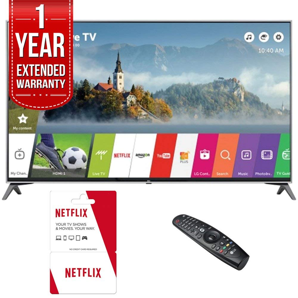An image of LG 65UJ7700 65-Inch HDR 4K LED 60Hz TV with LG TruMotion 120