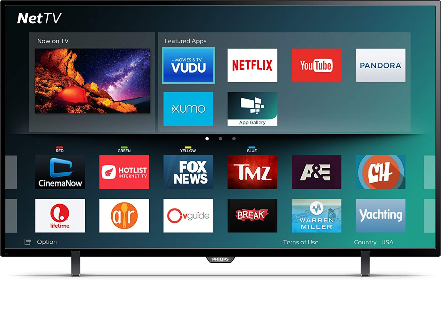 An image of Philips 43PFL5602/F7 43-Inch HDR 4K LED TV with Motion Rate 120
