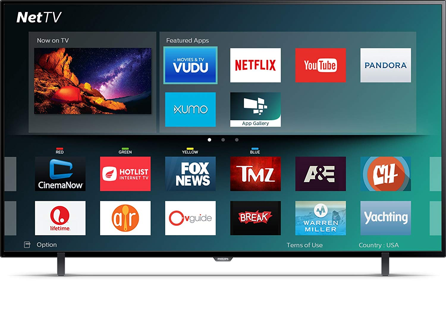 An image of Philips 65PFL5602/F7 65-Inch HDR 4K LED 60Hz TV with Motion Rate 120