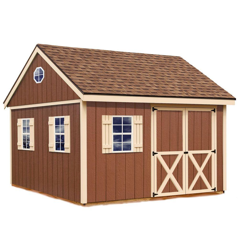Best Barns Mansfield-1212 Two-Story Pre Built Wooden 12 ft  x 12 ft