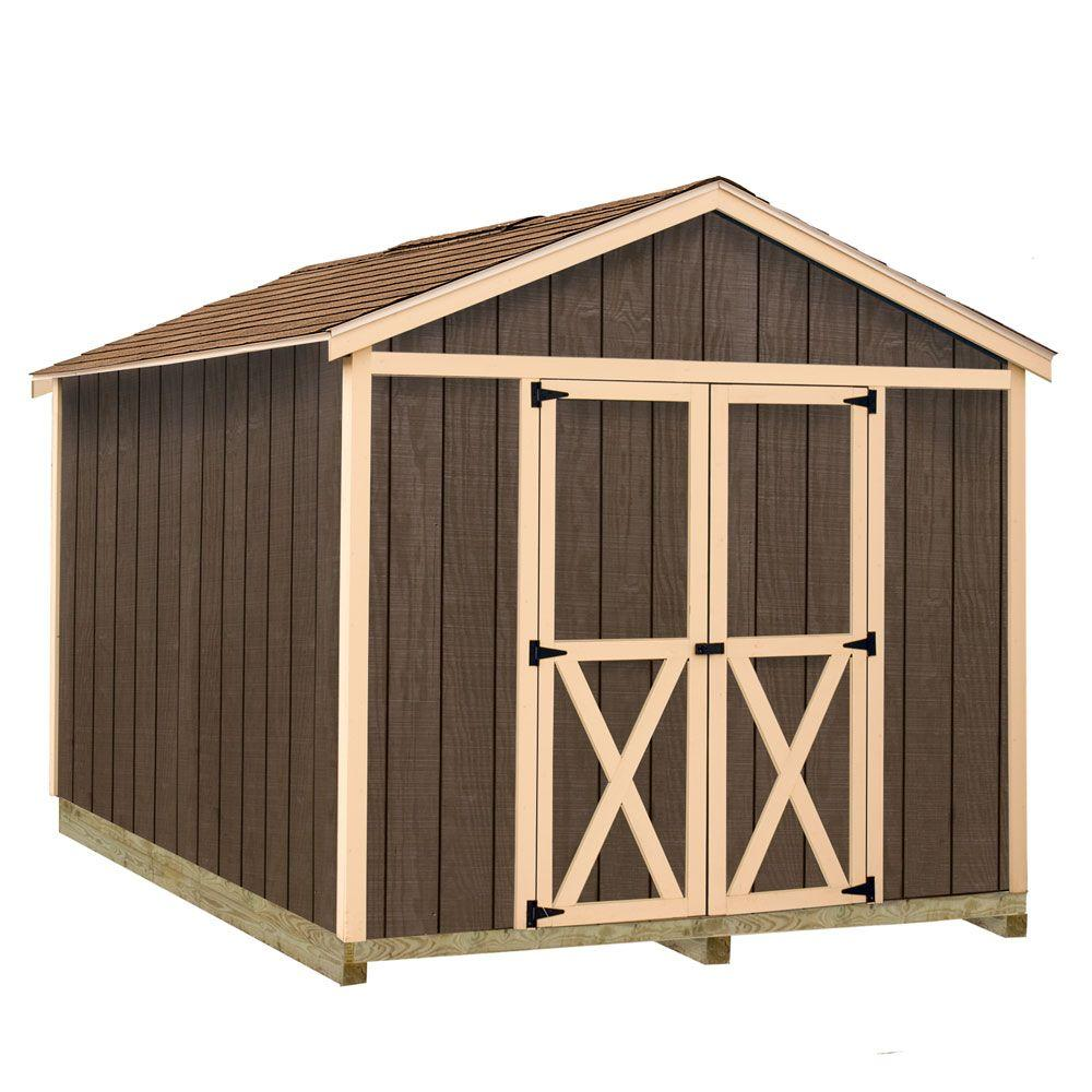 Best Barns Danbury-812df Pre Built Wooden 8 ft  x 12 ft  Ranch Shed