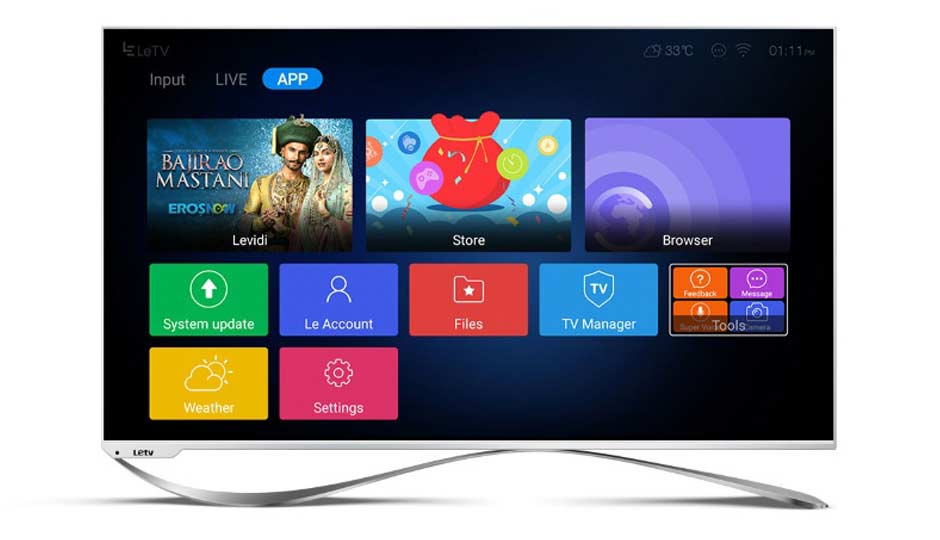An image of LeEco Super3-X65 64.53-Inch 4K LED TV