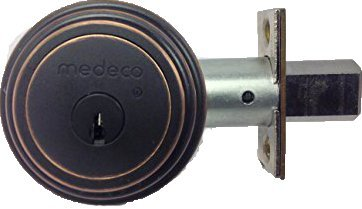 An image of Medeco 11R533T-10 Brass Black Lock | Door Lock Guide