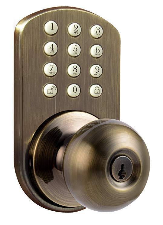An image related to MiLocks TKK-02AQ Bedroom Entry Brass Lock