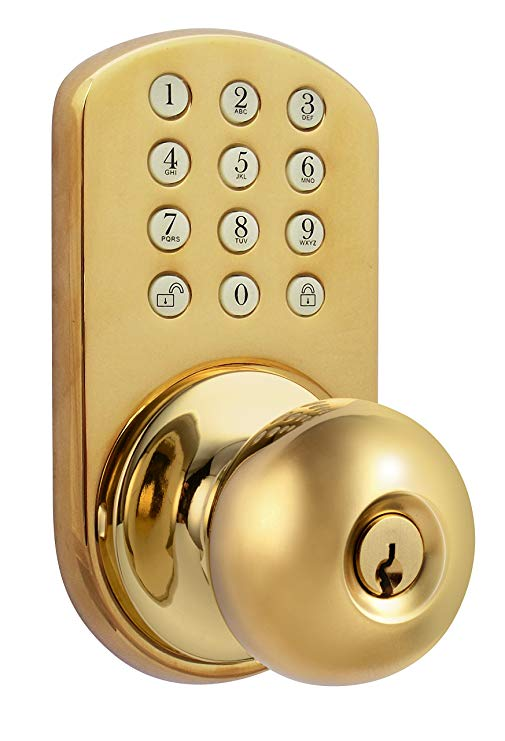 An image related to MiLocks TKK-02P Bedroom Polished Brass Lock
