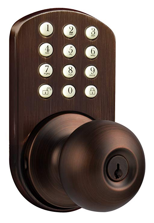 An image of MiLocks TKK-02OB Bedroom Oil-Rubbed Bronze Door Lock