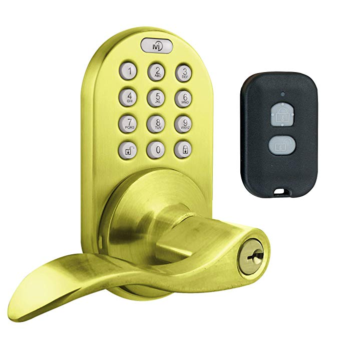 An image of MiLocks XKL-02P Brass Polished Brass Lock | Door Lock Guide