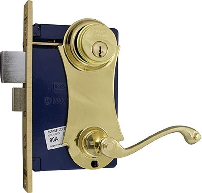An image related to Marks 9215AC/3-W LH Brass Polished Brass Door Lock