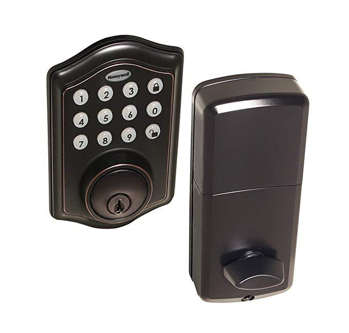 An image related to Honeywell 8712409 Oil-Rubbed Bronze Door Lock
