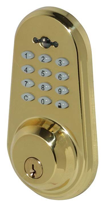 An image of Honeywell 8613009 Brass Polished Brass Lock | Door Lock Guide