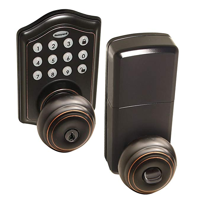An image of Honeywell 8732401 House Entry Oil-Rubbed Bronze Door Lock