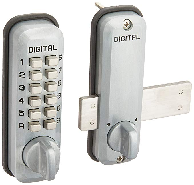 An image related to Lockey M220SC Steel and Zinc Satin Chrome Lock