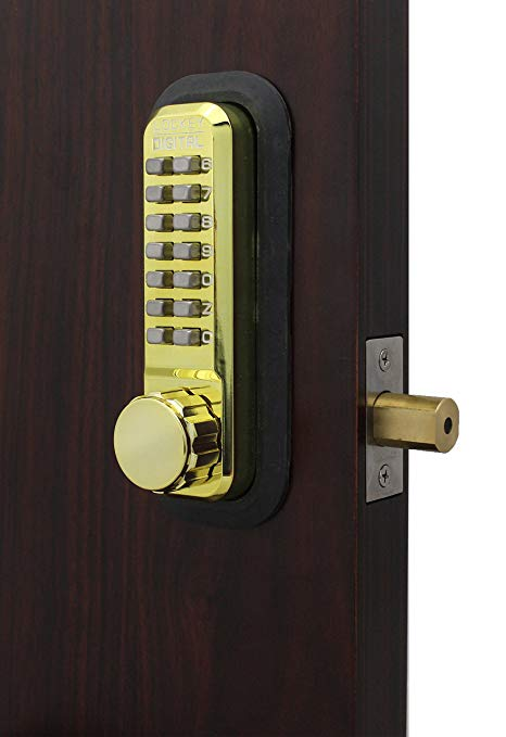 An image related to Lockey 2210BB Steel and Zinc Bright Brass Lock