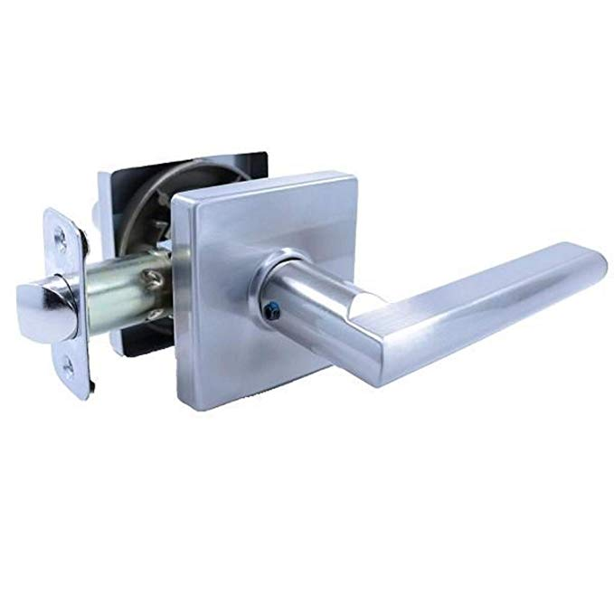 An image of Pamex FLS Satin Lever Lockset Door Lock | Door Lock Guide