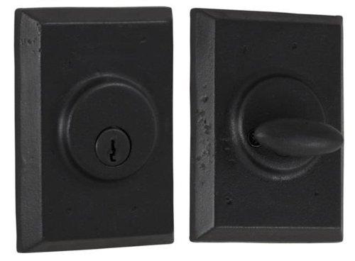 An image of Weslock 07971-2-2SL23 Metal Black Lock | Door Lock Guide