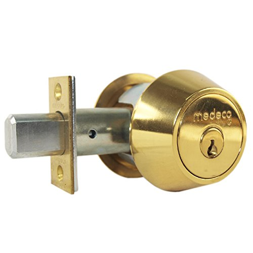 An image of Medeco 11-0102-605 Brass Lock