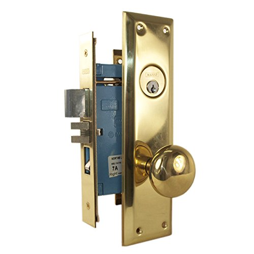 An image related to Marks 71A/3RH Entry Brass Polished Brass Lock