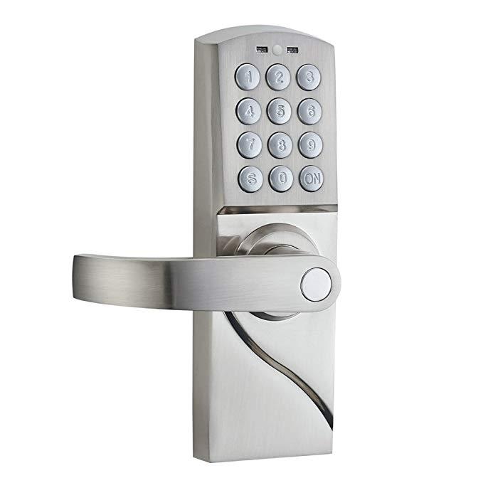 An image related to HAIFUAN HFARD-J002 Zinc Alloy Satin Nickel Door Lock