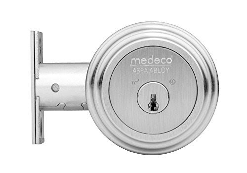 An image of Medeco 11R603 Brass and Stainless Steel Satin Chrome Door Lock | Door Lock Guide