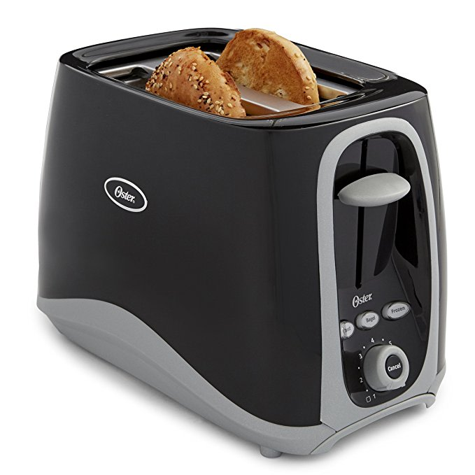 An image of Oster 2-Slice Black 7-Mode Cool Touch Wide Slot Toaster