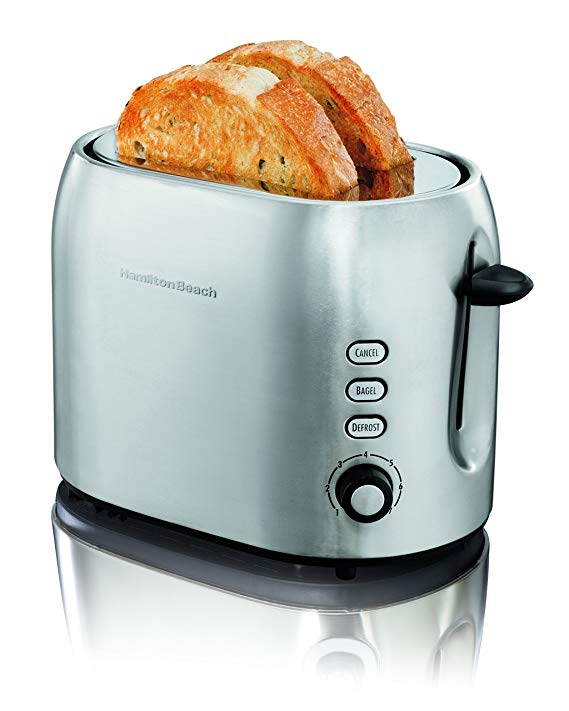 An image of Hamilton Beach Stainless Steel 2-Slice Metal 7-Mode Wide Slot Toaster