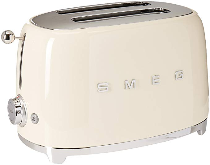 An image of Smeg 2-Slice Cream 6-Mode Wide Slot Toaster