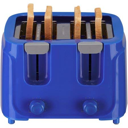 An image related to Mainstays 4-Slice Cobalt 6-Mode Toaster