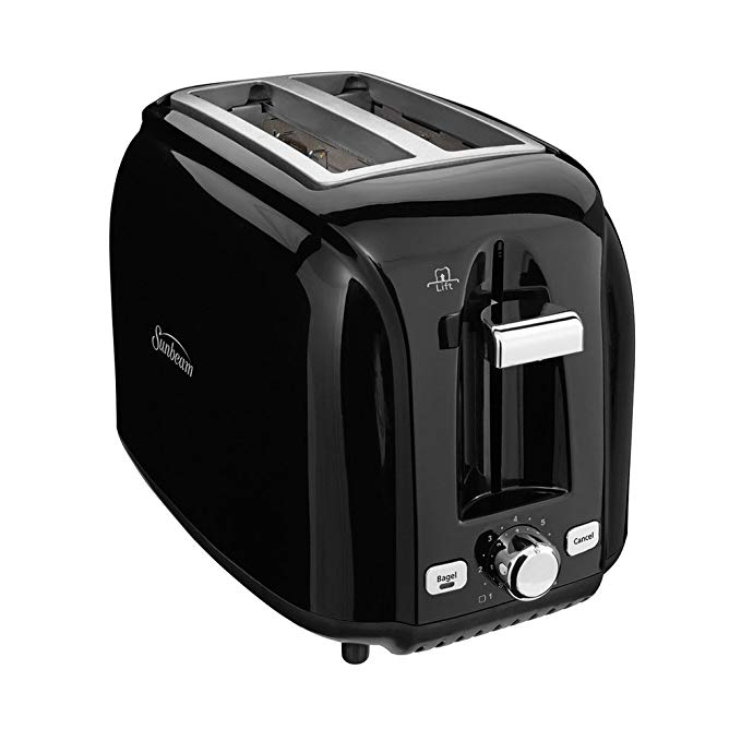 An image of Sunbeam 027045766456 2-Slice Black Toaster | The Top Toasters