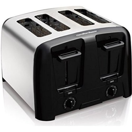 An image related to Hamilton Beach 4-Slice Chrome 7-Mode Cool Touch Wide Slot Toaster
