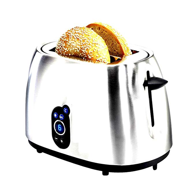 An image related to Hamilton Beach Stainless Steel 2-Slice Wide Slot Toaster