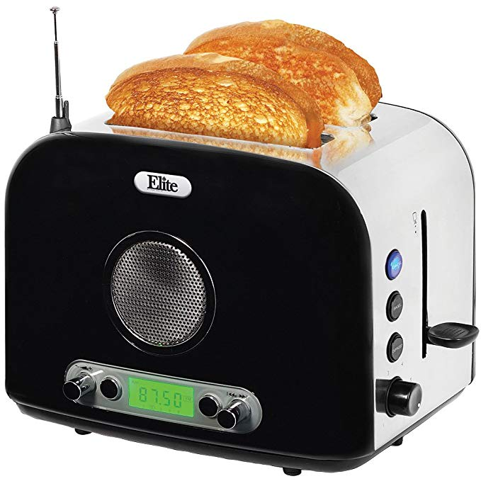 An image related to Maxi-Matic 2-Slice Vintage Black 6-Mode Toaster