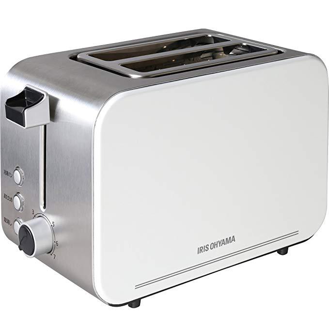 An image of IRIS OHYAMA, Inc. 850W White 7-Mode Wide Slot Toaster
